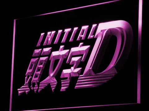 Initial D LED Neon Sign - Purple - SafeSpecial