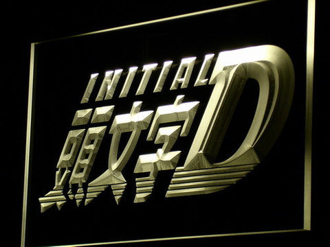 Initial D LED Neon Sign - Yellow - SafeSpecial