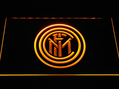 Inter Milan LED Neon Sign - Yellow - SafeSpecial
