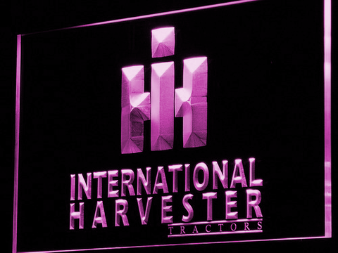 International Harvester Tractors LED Neon Sign - Purple - SafeSpecial