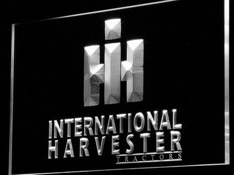 International Harvester Tractors LED Neon Sign - White - SafeSpecial
