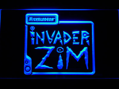Invader Zim LED Neon Sign - Blue - SafeSpecial