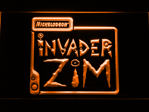 Image of Invader Zim LED Neon Sign - Orange - SafeSpecial