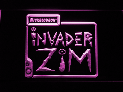 Invader Zim LED Neon Sign - Purple - SafeSpecial