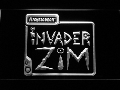 Invader Zim LED Neon Sign - White - SafeSpecial