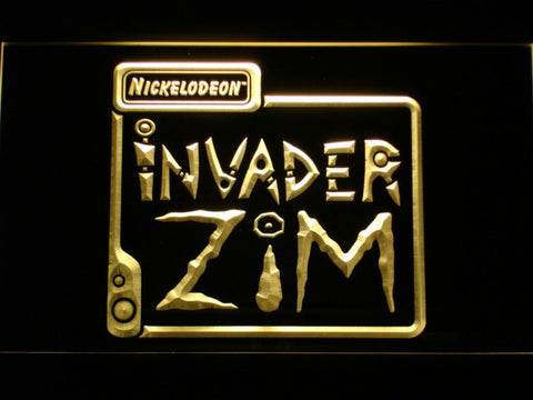 Image of Invader Zim LED Neon Sign - Yellow - SafeSpecial