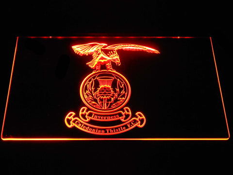 Image of Inverness Caledonian Thistle F.C. LED Neon Sign - Orange - SafeSpecial