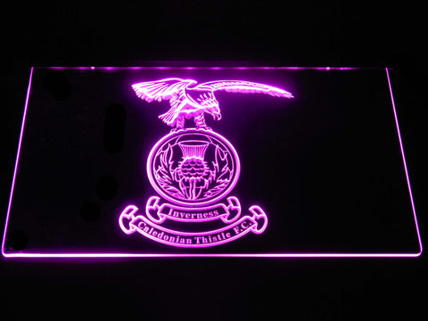 Image of Inverness Caledonian Thistle F.C. LED Neon Sign - Purple - SafeSpecial