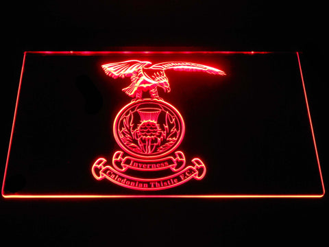 Image of Inverness Caledonian Thistle F.C. LED Neon Sign - Red - SafeSpecial