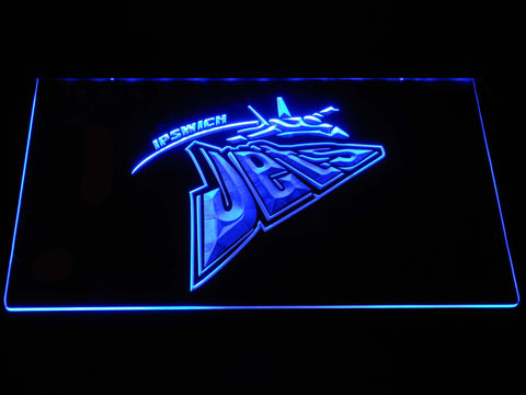 Ipswich Jets LED Neon Sign - Blue - SafeSpecial