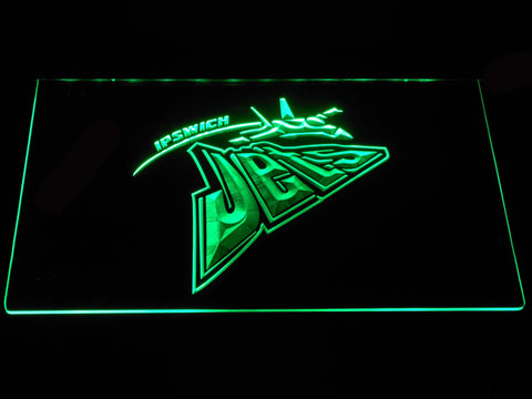 Image of Ipswich Jets LED Neon Sign - Green - SafeSpecial