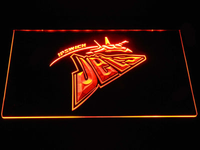 Ipswich Jets LED Neon Sign - Orange - SafeSpecial