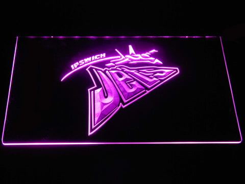 Ipswich Jets LED Neon Sign - Purple - SafeSpecial