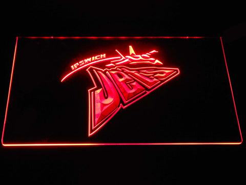 Image of Ipswich Jets LED Neon Sign - Red - SafeSpecial