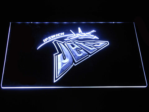 Image of Ipswich Jets LED Neon Sign - White - SafeSpecial