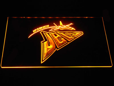 Ipswich Jets LED Neon Sign - Yellow - SafeSpecial