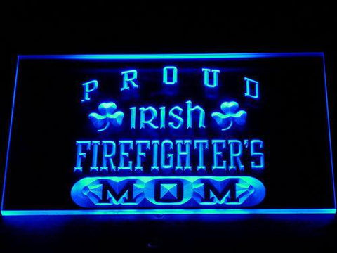 Image of Irish Fire Fighter's Mom LED Neon Sign - Blue - SafeSpecial