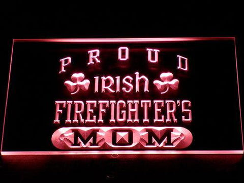 Image of Irish Fire Fighter's Mom LED Neon Sign - Red - SafeSpecial