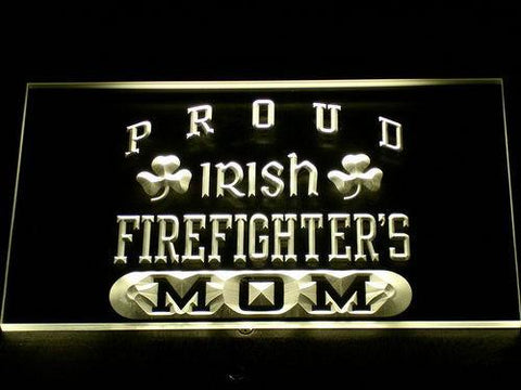Image of Irish Fire Fighter's Mom LED Neon Sign - Yellow - SafeSpecial