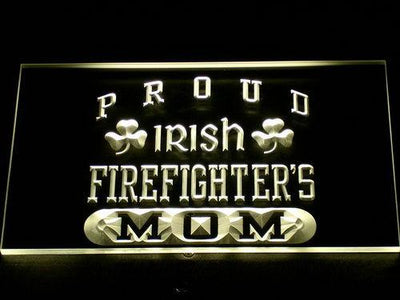 Irish Fire Fighter's Mom LED Neon Sign - Yellow - SafeSpecial