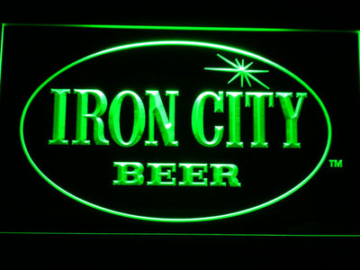 Iron City LED Neon Sign - Green - SafeSpecial