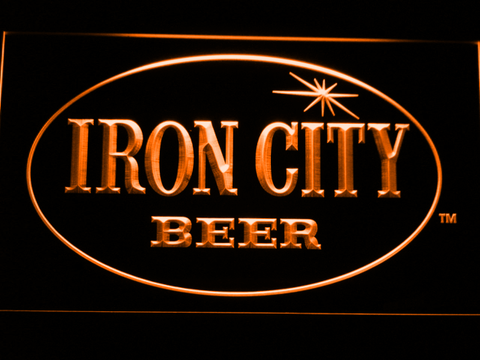 Image of Iron City LED Neon Sign - Orange - SafeSpecial