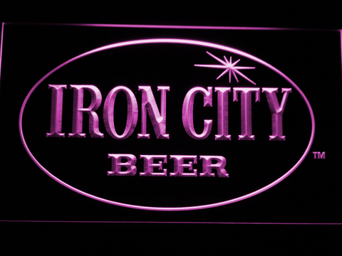 Image of Iron City LED Neon Sign - Purple - SafeSpecial