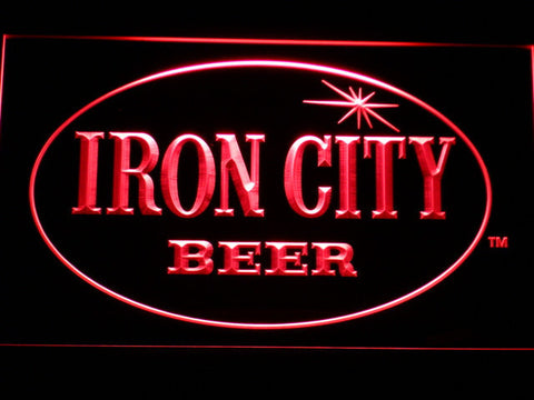 Iron City LED Neon Sign - Red - SafeSpecial