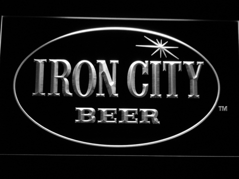 Image of Iron City LED Neon Sign - White - SafeSpecial