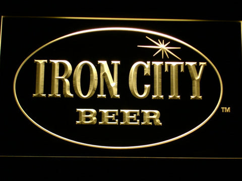 Image of Iron City LED Neon Sign - Yellow - SafeSpecial