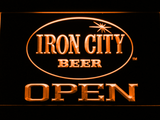 Iron City Open LED Neon Sign - Orange - SafeSpecial