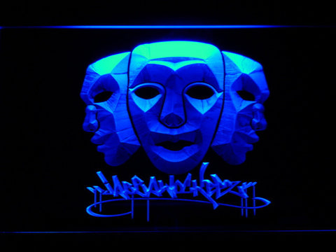 Image of Jabbawockeez Masks LED Neon Sign - Blue - SafeSpecial