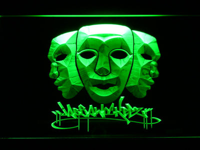 Jabbawockeez Masks LED Neon Sign - Green - SafeSpecial