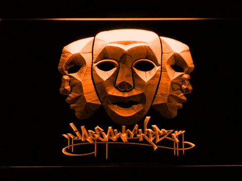 Image of Jabbawockeez Masks LED Neon Sign - Orange - SafeSpecial