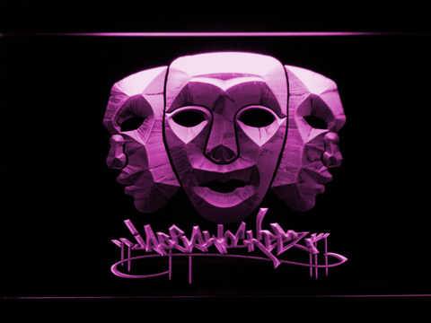 Image of Jabbawockeez Masks LED Neon Sign - Purple - SafeSpecial