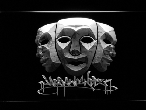 Image of Jabbawockeez Masks LED Neon Sign - White - SafeSpecial