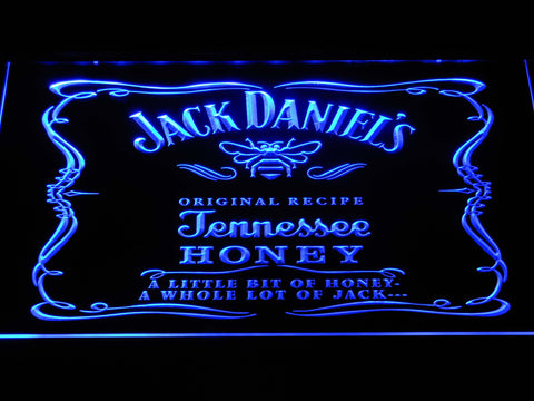Image of Jack Daniel's A little bit of Honey LED Neon Sign - Blue - SafeSpecial