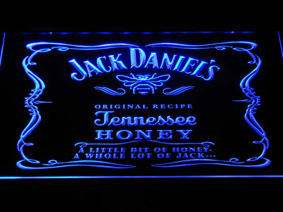 Jack Daniel's A little bit of Honey LED Neon Sign - Blue - SafeSpecial