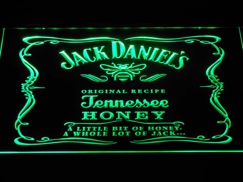 Image of Jack Daniel's A little bit of Honey LED Neon Sign - Green - SafeSpecial