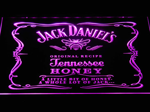 Image of Jack Daniel's A little bit of Honey LED Neon Sign - Purple - SafeSpecial