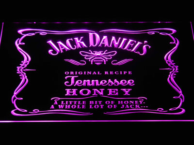 Jack Daniel's A little bit of Honey LED Neon Sign - Purple - SafeSpecial
