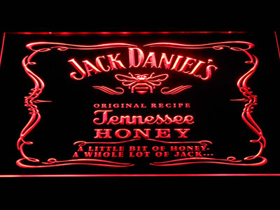 Jack Daniel's A little bit of Honey LED Neon Sign - Red - SafeSpecial