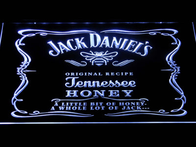 Jack Daniel's A little bit of Honey LED Neon Sign - White - SafeSpecial
