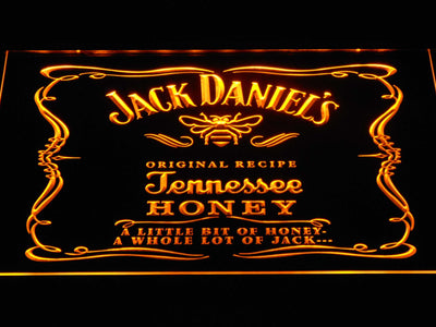 Jack Daniel's A little bit of Honey LED Neon Sign - Yellow - SafeSpecial