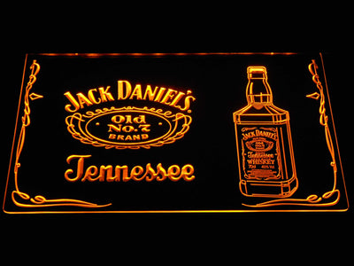 Jack Daniel's Bottle LED Neon Sign - Yellow - SafeSpecial