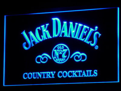 Jack Daniel's Country Cocktails LED Neon Sign - Blue - SafeSpecial