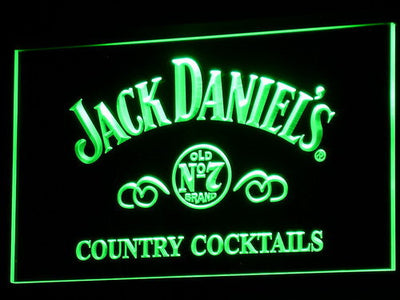 Jack Daniel's Country Cocktails LED Neon Sign - Green - SafeSpecial