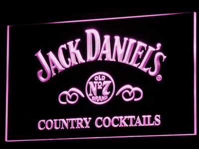 Jack Daniel's Country Cocktails LED Neon Sign - Purple - SafeSpecial