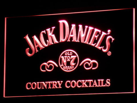 Image of Jack Daniel's Country Cocktails LED Neon Sign - Red - SafeSpecial