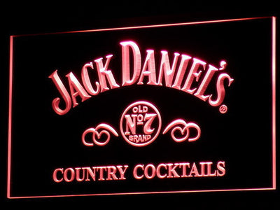 Jack Daniel's Country Cocktails LED Neon Sign - Red - SafeSpecial